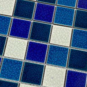 gach Mosaic men gom xanh