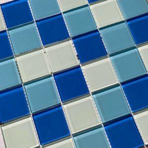 gach Mosaic trang xanh