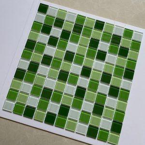 gach Mosaic xanh trang