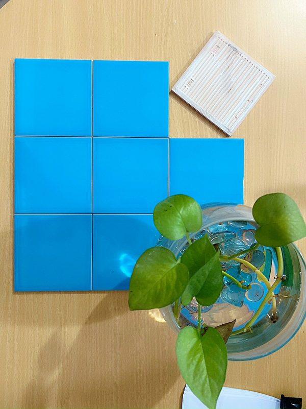 gach the xanh 10x10cm